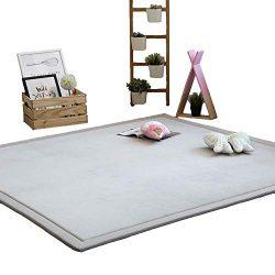 Lyfreen Memory Foam Kid Area Rug Modern Nursery Rug Kids Carpet for Boys Girls Ultra Soft Baby P ...