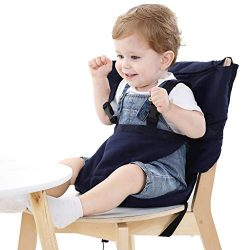 Easy Seat Portable Travel High Chair Safety Washable Cloth Harness for Infant Toddler Feeding wi ...