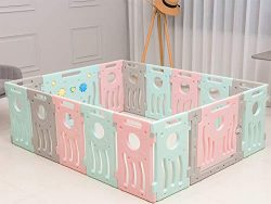 Buckland Baby Playpen Kids Infant Play Yard Toddler Fence (Classic 14+2 Panel Set)