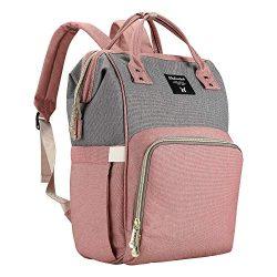 Backpack Diaper Bag Baby Bags for Mom, Large Capacity Diaper Backpacks Nappy Travel Bags, Multi- ...