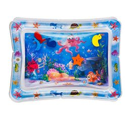 Splashin'kids Inflatable Tummy Time Premium Water mat Infants and Toddlers is The Perfect  ...