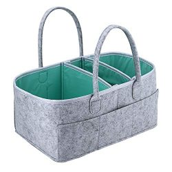 Baby Diaper Caddy Organizer – Portable Storage Basket – Essential Bag for Nursery, C ...