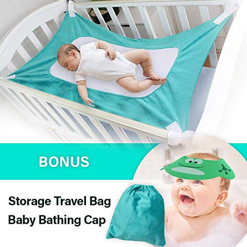 Upgraded Baby Hammock for Crib – Safe Comfortable Healthy Sleep for Newborn – Essent ...