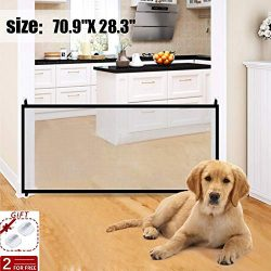 Pet Gate- Dog gate for House Baby Safety Gates Portable Folding Safe Guard Install Anywhere Keep ...