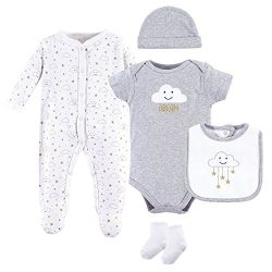 Hudson Baby Baby Multi Piece Clothing Set, Gray Clouds 5, 3-6 Months (6M)