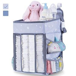 Diaper Caddy Organizer for Changing Table | Hanging Diaper Stacker for Nursery Organization | Cr ...