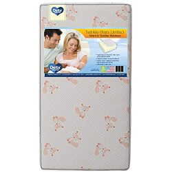 Delta Children Twinkle Stars Limited Fiber Core Crib and Toddler Mattress Waterproof Lightweight ...