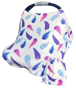 Nursing Cover, Car Seat Canopy for Babies, Multi-Use Breastfeeding Scarf – High Chair, Str ...