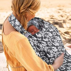 UHINOOS Nursing Cover, Infinity Soft Breastfeeding Cotton for Babies with no See Through Cotton  ...