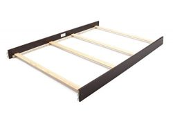 Full Size Conversion Kit Bed Rails for Bertini Baby Cribs (Dark Walnut)