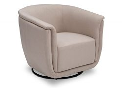 Delta Children Skylar Nursery Glider Swivel Rocker Tub Chair, Flax