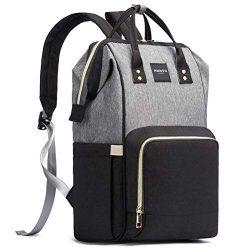 HaloVa Diaper Bag, Trendy Baby Nappy Backpack, Travel Shoulders Bag, Large Maternity Infant Nurs ...