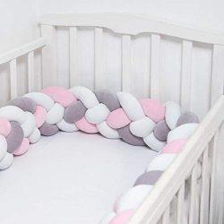 Baby Crib Bumper Chunky Knit Braided Baby Bedding Sheets Plush Nursery Cradle Decor Newborn Gift ...