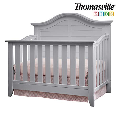 Thomasville Kids Southern Dunes Lifestyle 4-in-1 Convertible Crib, Pebble Gray, Easily Converts  ...