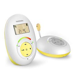 HelloBaby HB180 Two-Way Audio Baby Monitor with Temprature Sensor, Sound Alert, Lullabies &  ...