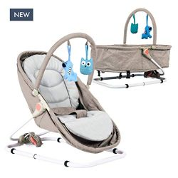 Baby Portable Bassinet & Bouncer Travel Bassinet, Rocker, Bouncer with Two Modes of use, New ...
