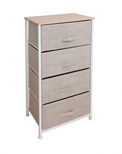 East Loft Tall 4 Drawer Dresser |Storage Organizer for Closet, Nursery, Bathroom, Laundry or Bed ...