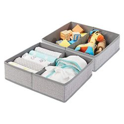 mDesign Soft Fabric Dresser Drawer and Closet Storage Organizer Bin for Child/Kids Room, Nursery ...