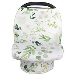 Nursing Cover Breastfeeding Scarf, Car Seat Covers for Babies Infant Carseat Canopy, Stretchy So ...