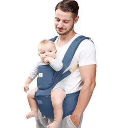 Baby Carrier Hip Seat 360 Ergonomic 6-in-1 Convertible Hipseat Baby Carrier with Breastfeeding N ...