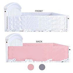 Crib Rail Cover Protector,Wide for Narrow Side Crib Rails,Measuring up to 18″ Around, 2 Pa ...