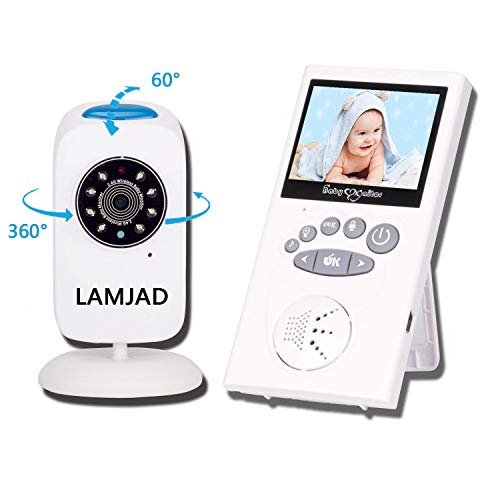 Baby Monitor with Camera, LAMJAD Video Baby Monitor with 960ft Transmission Range, Infrared Nigh ...