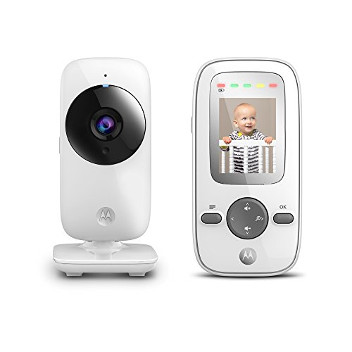 Motorola MBP481 2.4 GHz Digital Video Baby Monitor with 2-Inch Color Display, Digital Zoom, and  ...