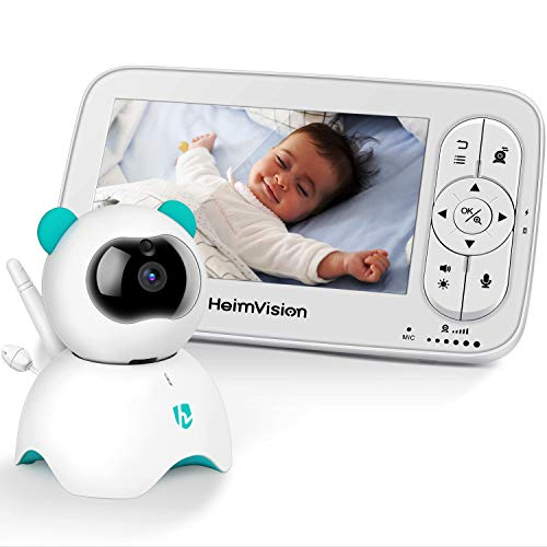 HeimVision HM136 Video Baby Monitor, 5″ LCD Display, 720P HD, Two-Way Audio, Temperature & ...