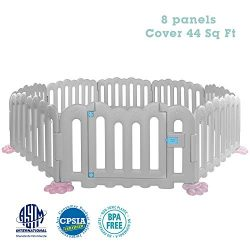 RUUF Baby Playpen, Play Yard with Extra Large Space, Watering Base, Kids Activity Center Indoor  ...