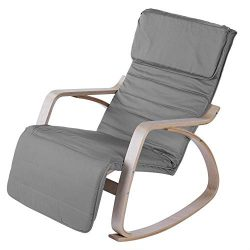 Rocking Relax Chair, Comfortable Rocking Lounge Adjustable Relax Chair Modern Home Office Furnit ...