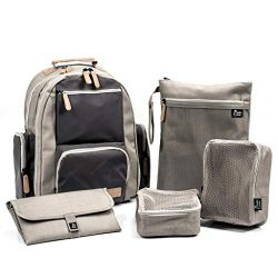 Large Capacity Diaper Bag Backpack- with YKK Zippers, Two Packing Cubes, Wet/Dry Bag, Changing P ...