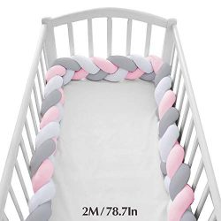 Wonder Space Soft Knot Plush Pillow – Baby Crib Bumper, Fashion Nursery Cradle Decor for B ...
