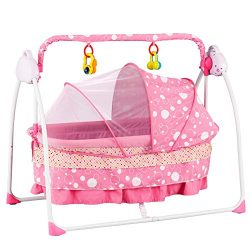 Uenjoy Rocking Multifunction Baby Swing Bed Automatic Bassinet Baby Basket with Remote Control,  ...