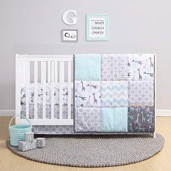 The Peanutshell Giraffe Crib Bedding Set for a Boy, Girl and Unisex Nursery – Baby Quilt,  ...