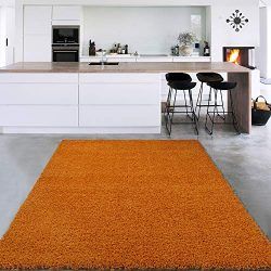 Sweet Home Stores Cozy Shag Collection Solid Shag Rug Contemporary Living & Bedroom Soft Sha ...