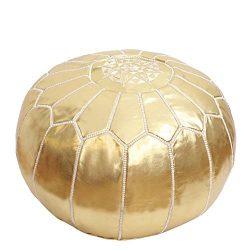 Baba Souk Moroccan Pouf – Gold Metallic