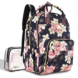 Diaper Bag Backpack, Large Capacity Baby Nappy Changing Bag Multi-Function Waterproof Travel Bac ...