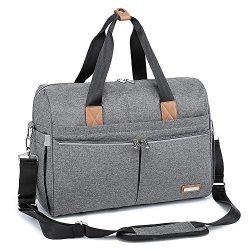 Diaper Bag, RUVALINO Large Travel Diaper Tote Multifunction for Mom and Dad Convertible Baby Bag ...