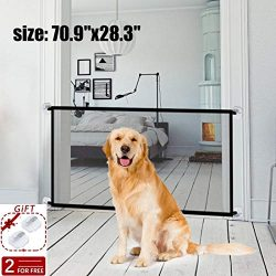 70.9″x28.3″Magic Gate for Dogs,Pet Gate Portable Folding Safe Guard Install Anywhere ...