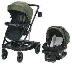 Graco Uno2Duo Travel System | Includes UNO2DUO Stroller and SnugRide SnugLock35 Infant Car Seat, ...