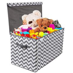 Woffit Toy Storage Organizer Chest for Kids & Living Room, Nursery, Playroom, Closet etc. &# ...