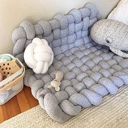 Wonder Space Knot Plush Baby Sleeping Mat, Soft Cotton Square Nursery Rug, Fashion Nursery Room  ...