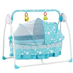 Uenjoy Automatic Baby Basket Electric Rocking Multifunction Baby Swing Cradle Bed,Remote or Pane ...