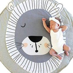 USTIDE Baby Rugs Creeping Crawling Mat Cartoon Sleeping Rugs, Baby Anti-Slip Game Mat 100% Cotto ...