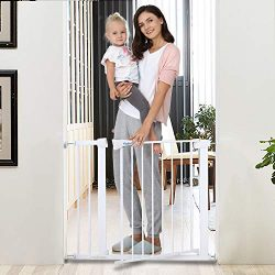 Safety Baby Gate,29.5-40.5 inch Auto Close Features,Easy Walk-Thru Child Gate for The House, St ...