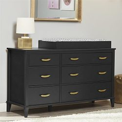 Little Seeds Monarch Hill Hawken 6 Drawer Changing Table, Black