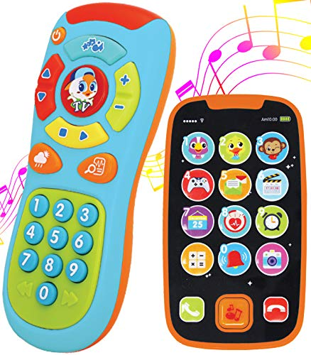 JOYIN My Learning Remote and Phone Bundle with Music, Fun, Smartphone Toys for Baby, Infants, Ki ...