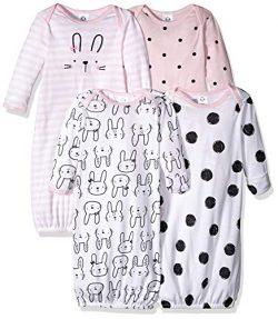 Gerber Baby Girls' 4-Pack Gown, Bunny, Preemie