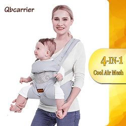 Baby-Carrier-Backpack-Hip Seat-Front and Back for Newborn Essential, Toddler Warp Carrier Holder ...