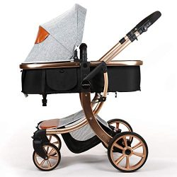 Baby Stroller Compact Reversible Bassinet Pram Strollers Foldable Citi Carriage All Terrain Conv ...